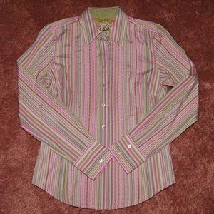 Robert Graham XS striped button up shirt